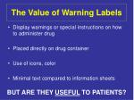 the value of warning labels