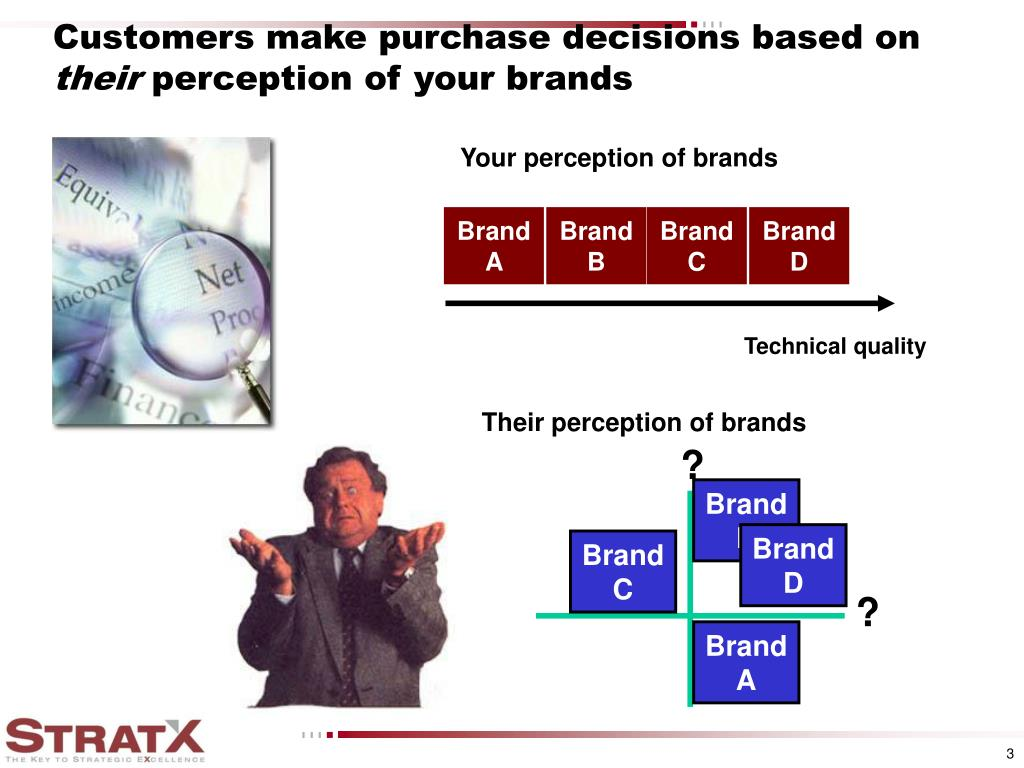Customers make purchase decisions based on