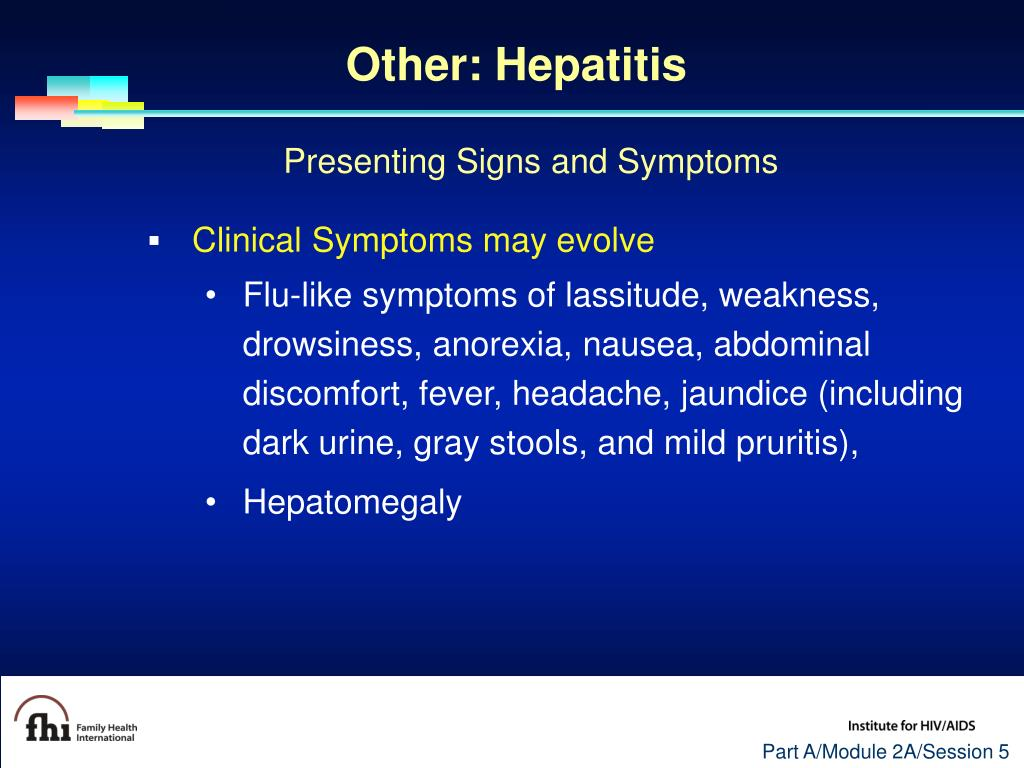 Other: Hepatitis