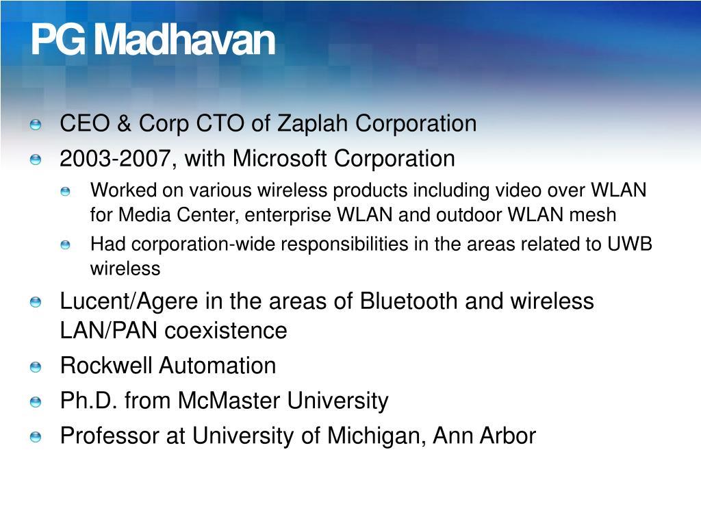 PG Madhavan