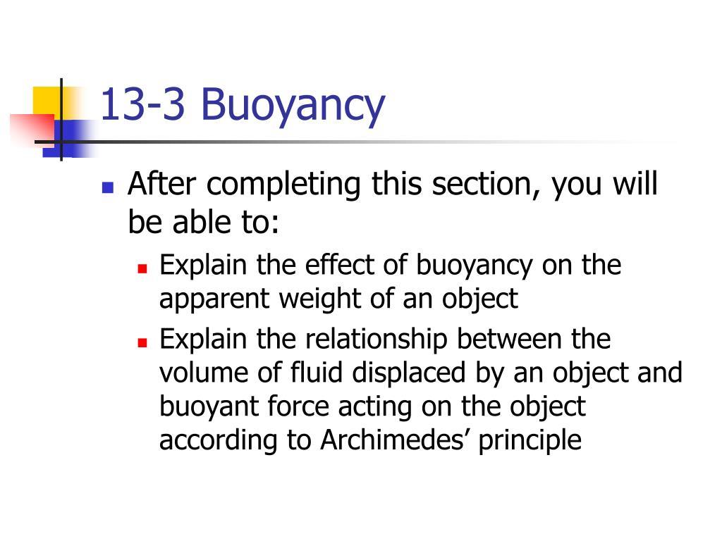 13-3 Buoyancy