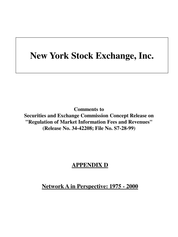 New York Stock Exchange, Inc.