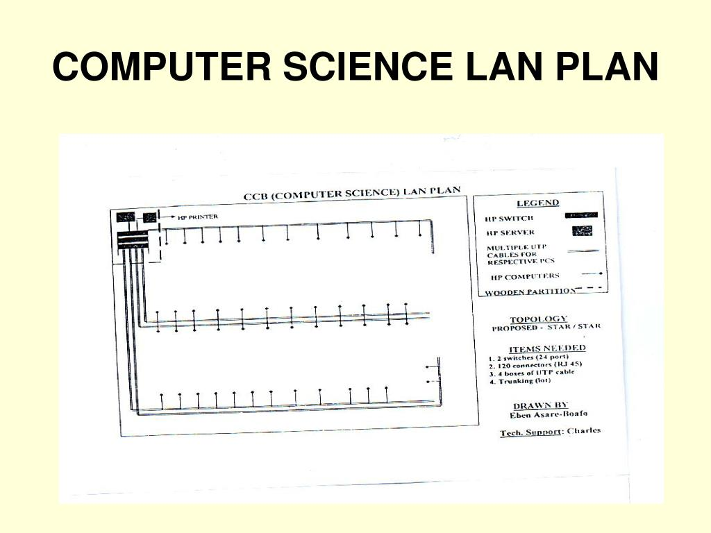 COMPUTER SCIENCE LAN PLAN