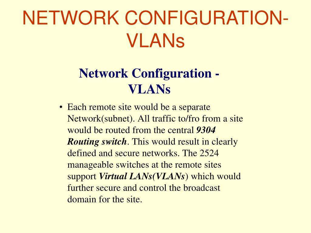 NETWORK CONFIGURATION-VLANs