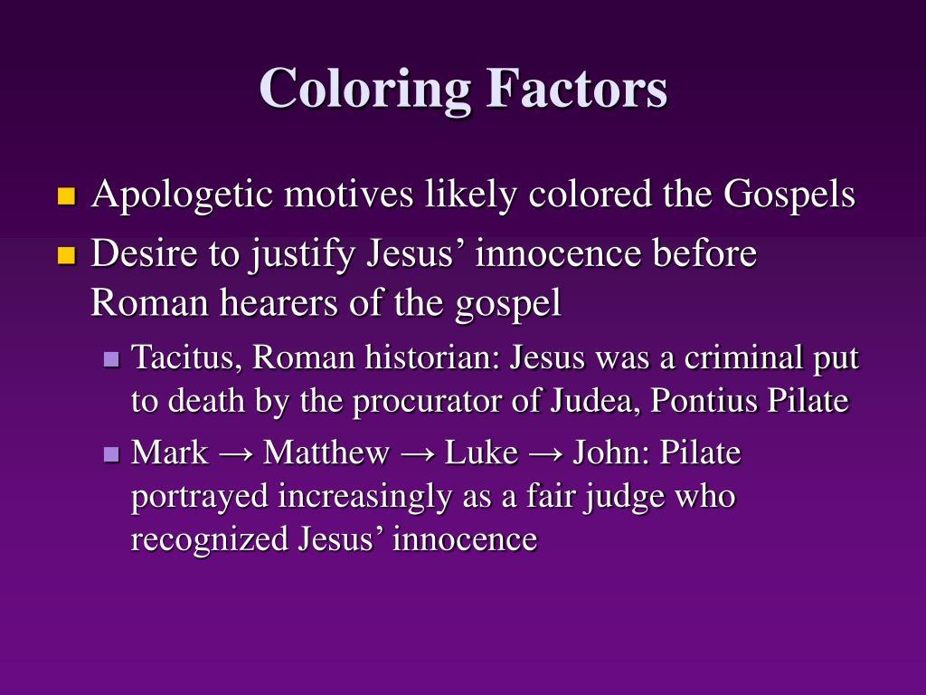 Coloring Factors
