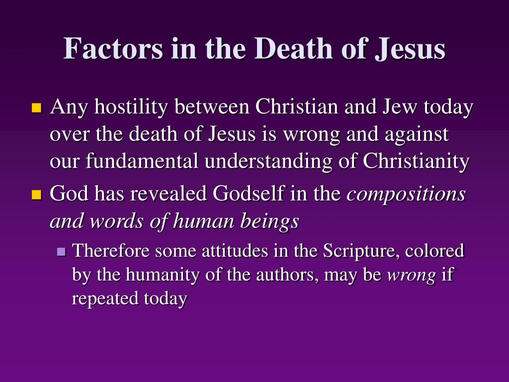 Factors in the Death of Jesus