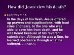 how did jesus view his death19