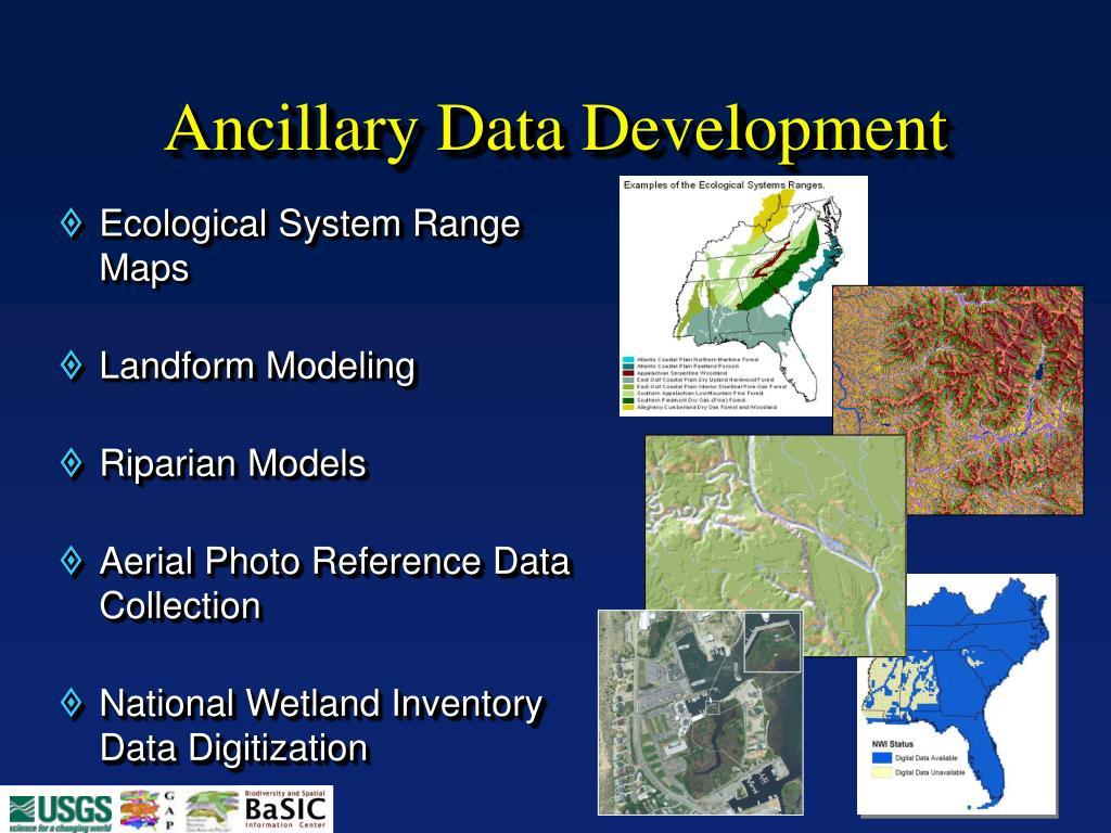 Ancillary Data Development