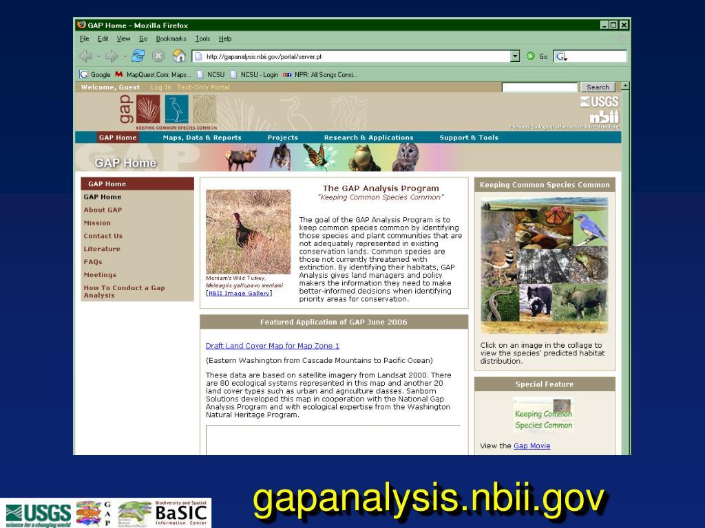 gapanalysis.nbii.gov