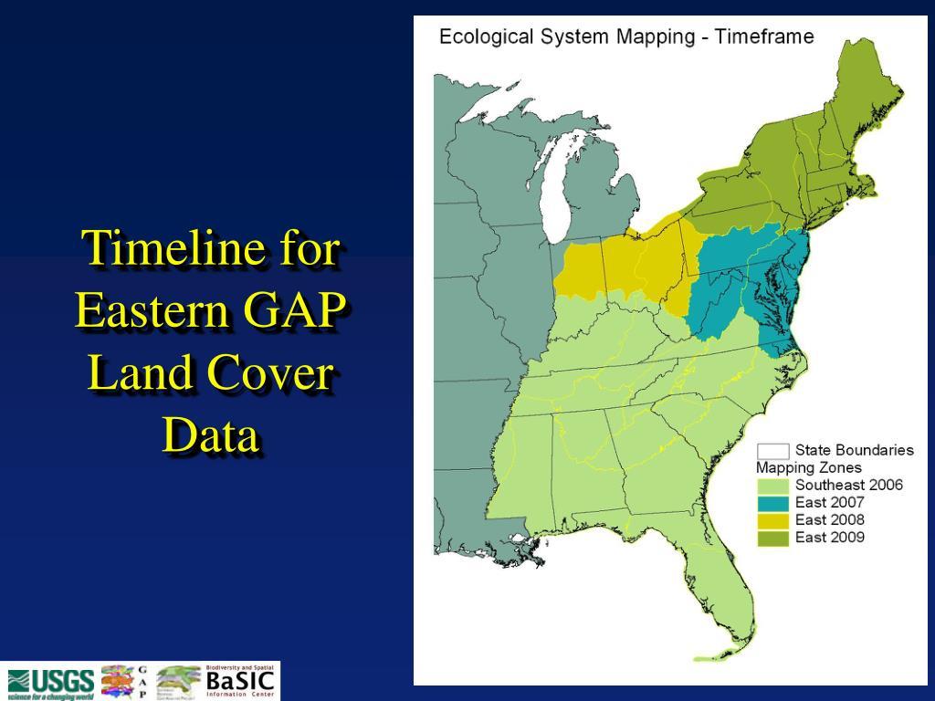 Timeline for Eastern GAP