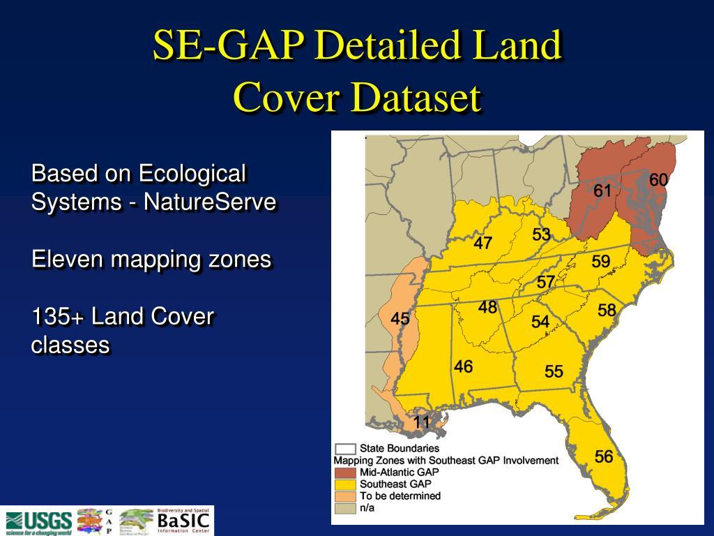 SE-GAP Detailed Land Cover Dataset