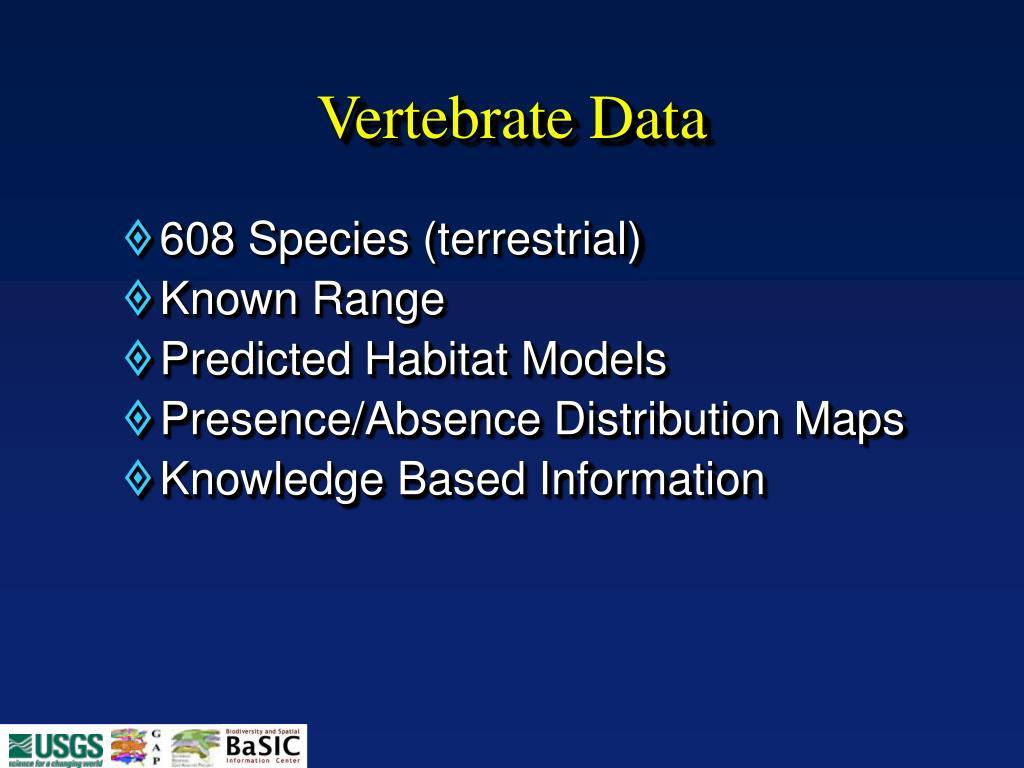 Vertebrate Data