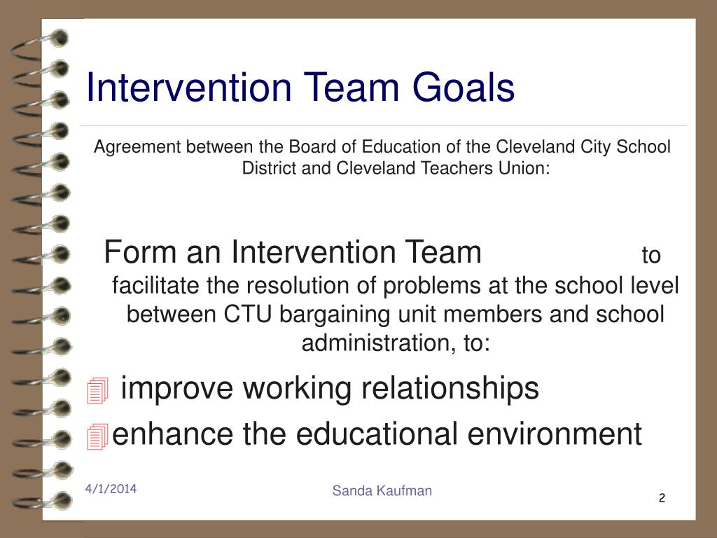 Intervention Team Goals
