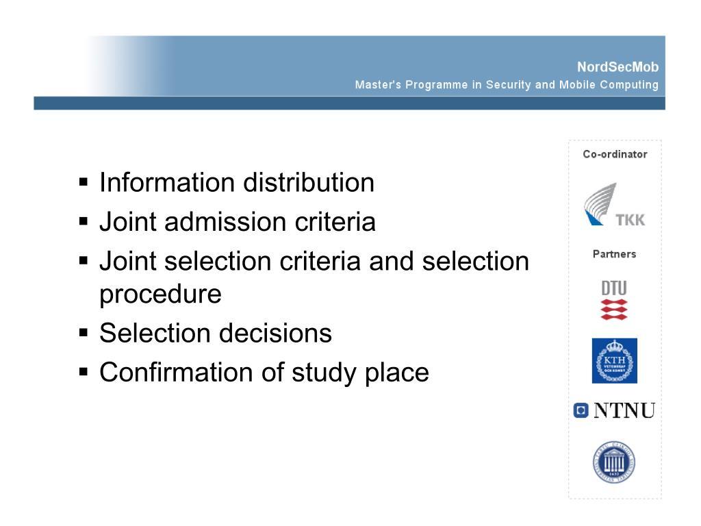 Information distribution