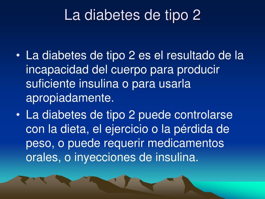 La diabetes de tipo 2