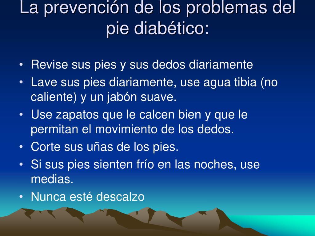 La prevención de los problemas del pie diabético: