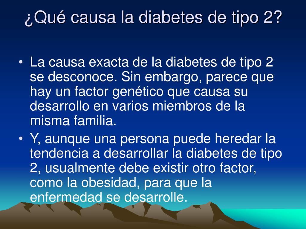 ¿Qué causa la diabetes de tipo 2?