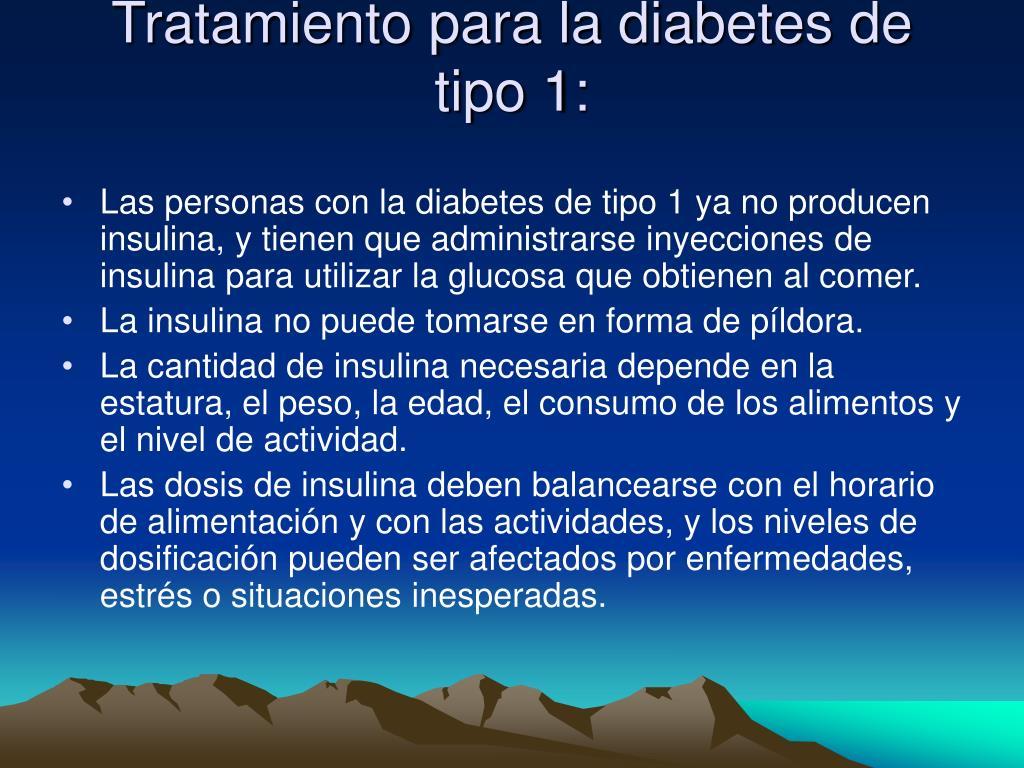Tratamiento para la diabetes de tipo 1: