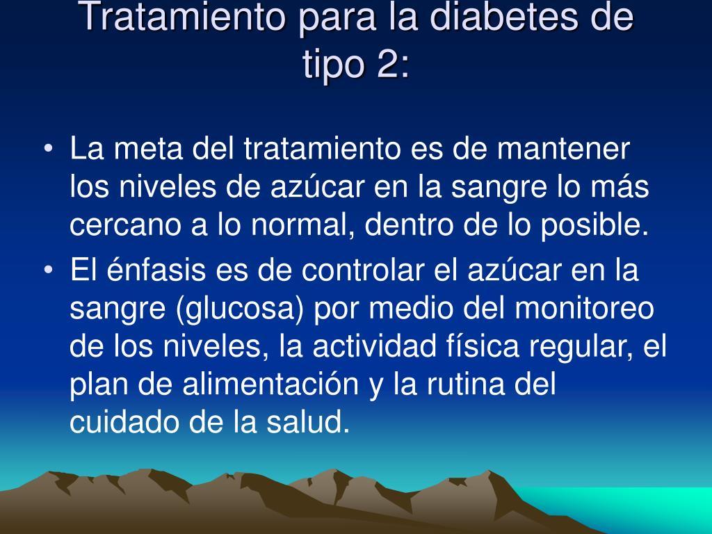 Tratamiento para la diabetes de tipo 2: