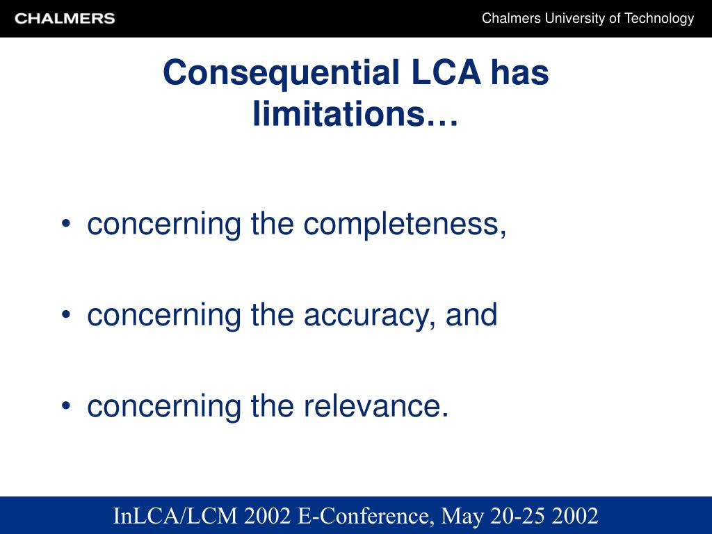 Consequential LCA has limitations…