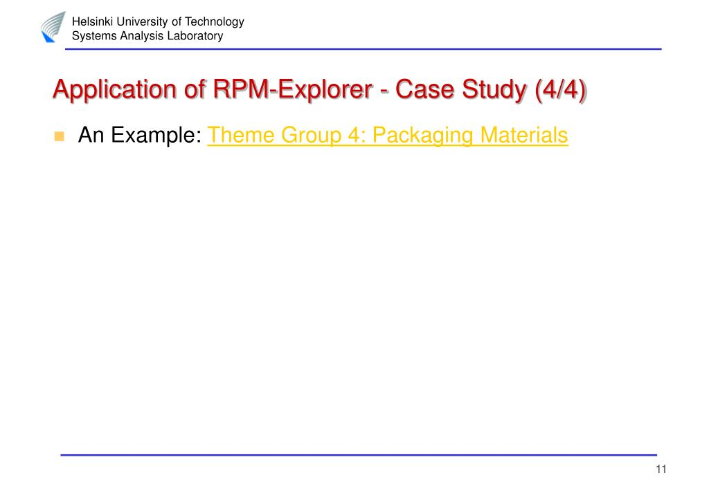 Application of RPM-Explorer - Case Study (4/4)
