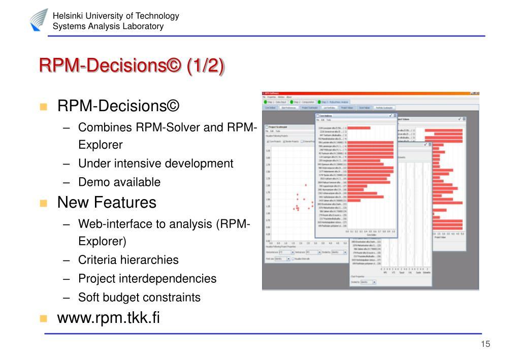RPM-Decisions© (1/2)