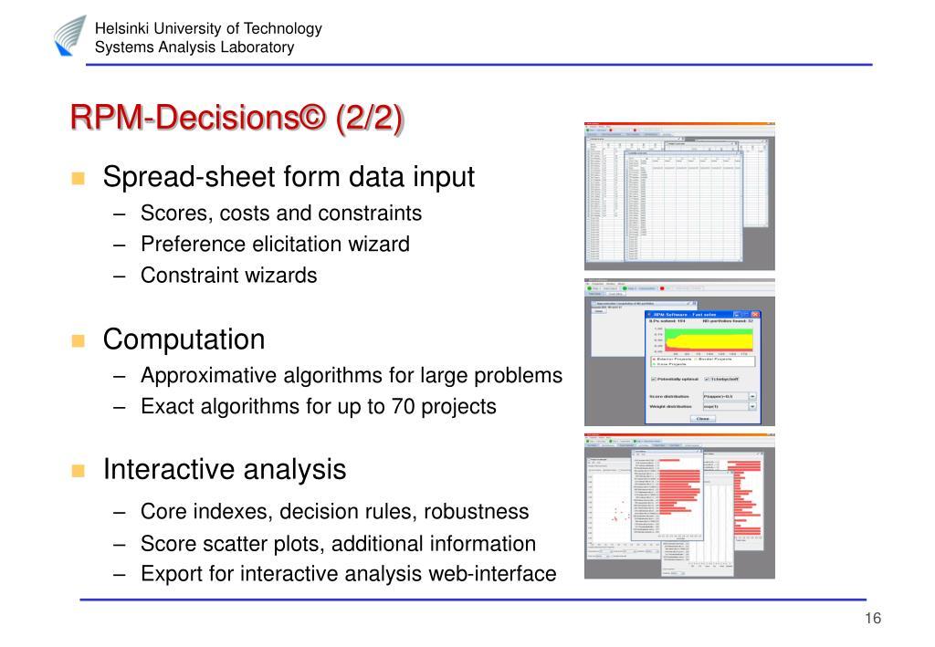 RPM-Decisions© (2/2)