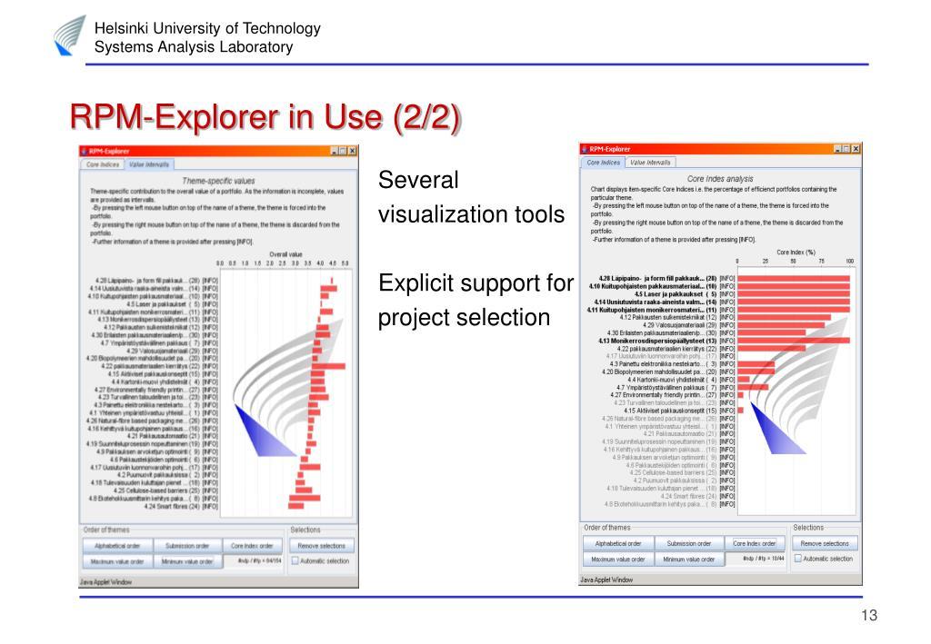 RPM-Explorer in Use (2/2)