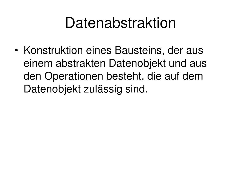 Datenabstraktion