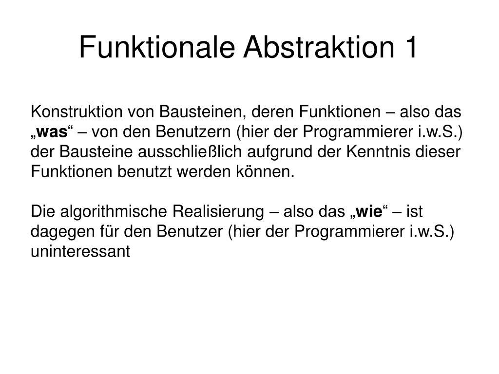 Funktionale Abstraktion 1