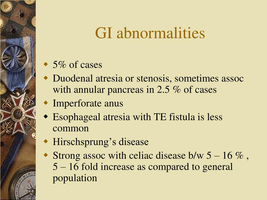 GI abnormalities