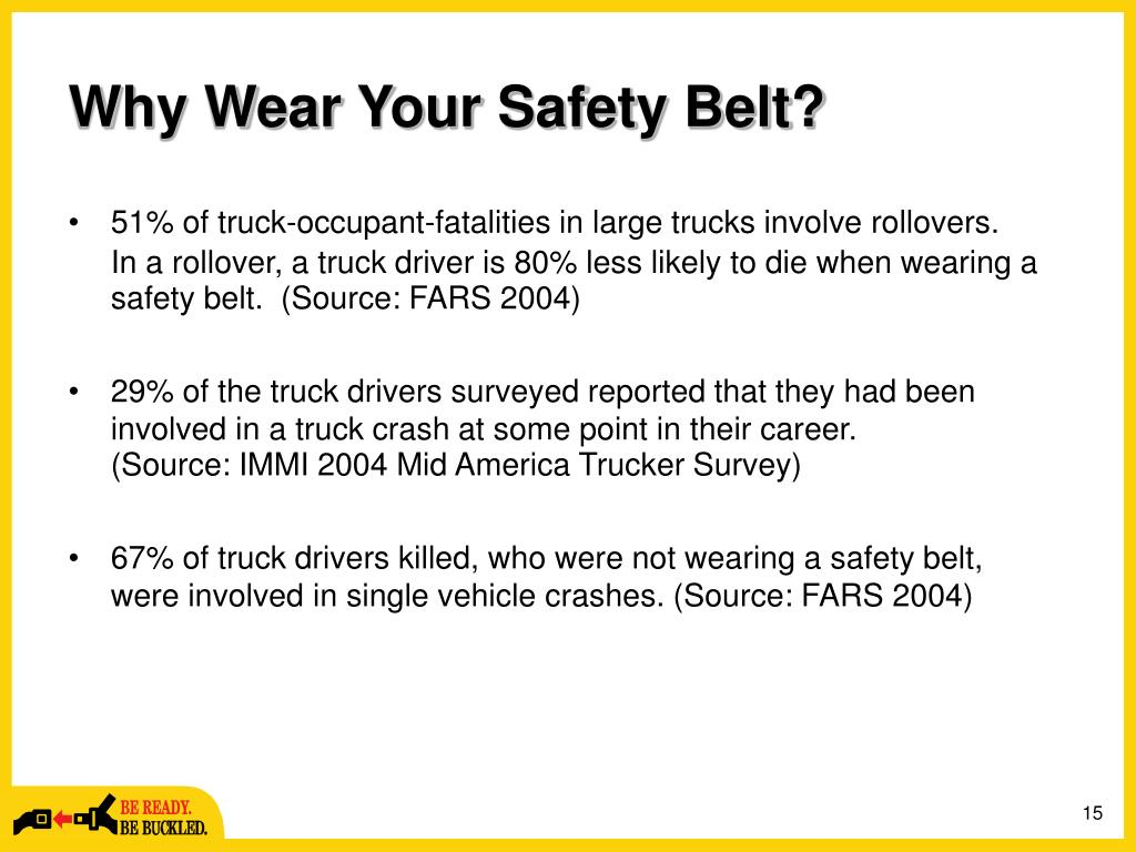 Why Wear Your Safety Belt?