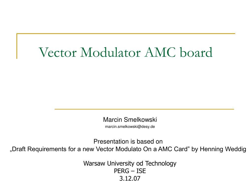 Vector Modulator AMC board