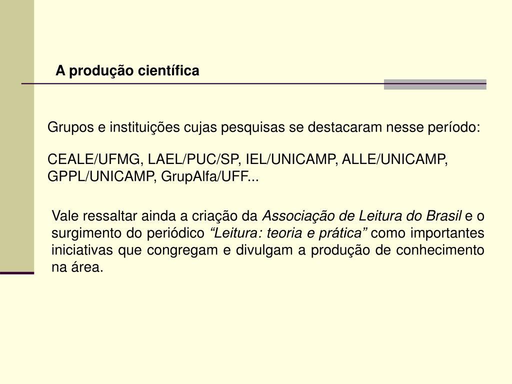 A produção científica