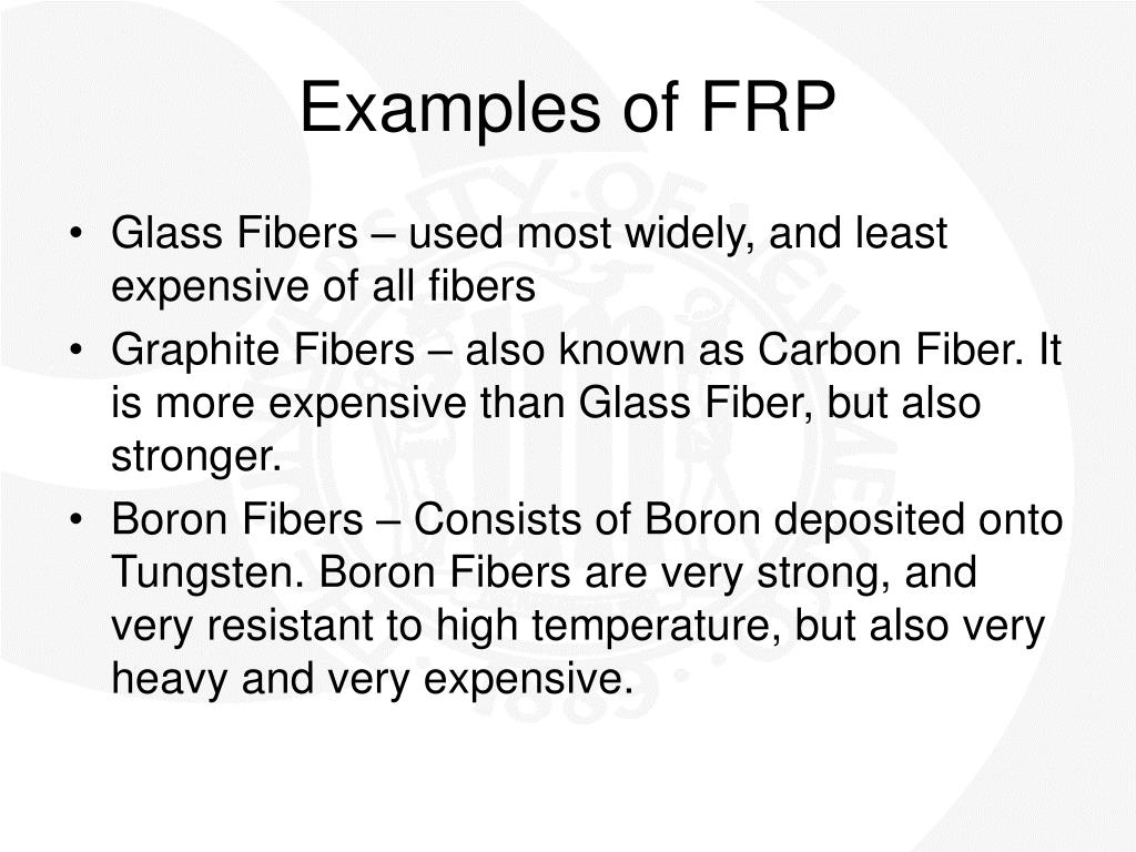 Examples of FRP