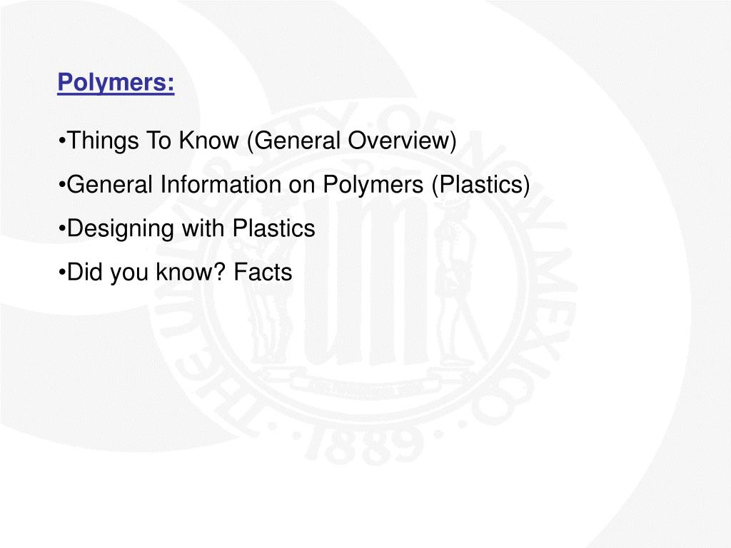Polymers: