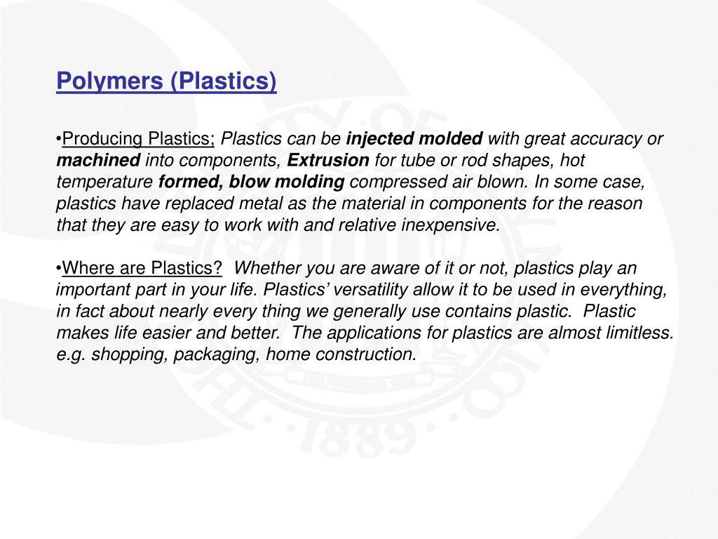 Polymers (Plastics)