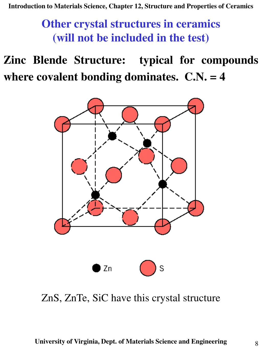 Other crystal structures in ceramics