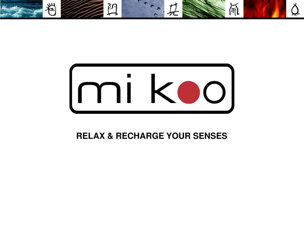 RELAX & RECHARGE YOUR SENSES