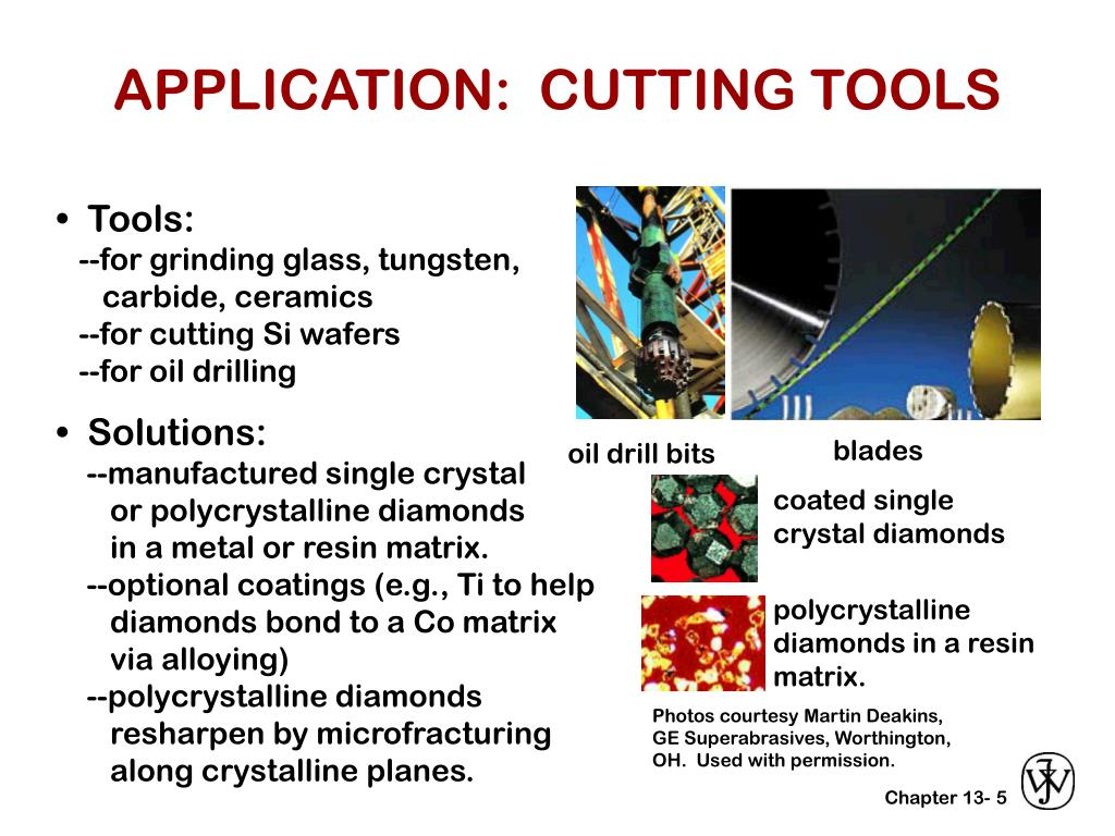 APPLICATION:  CUTTING TOOLS