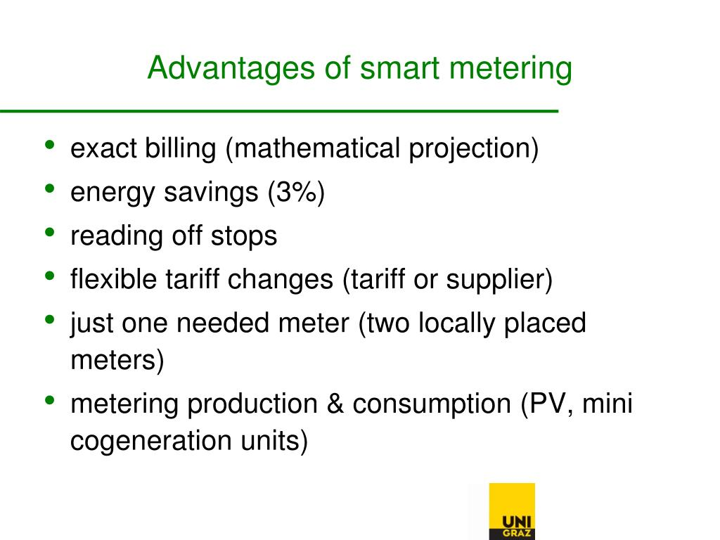 Advantages of smart metering