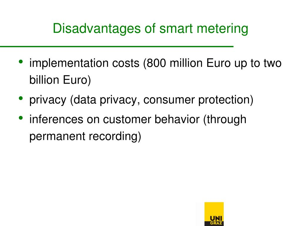 Disadvantages of smart metering