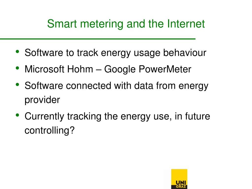 Smart metering and the Internet