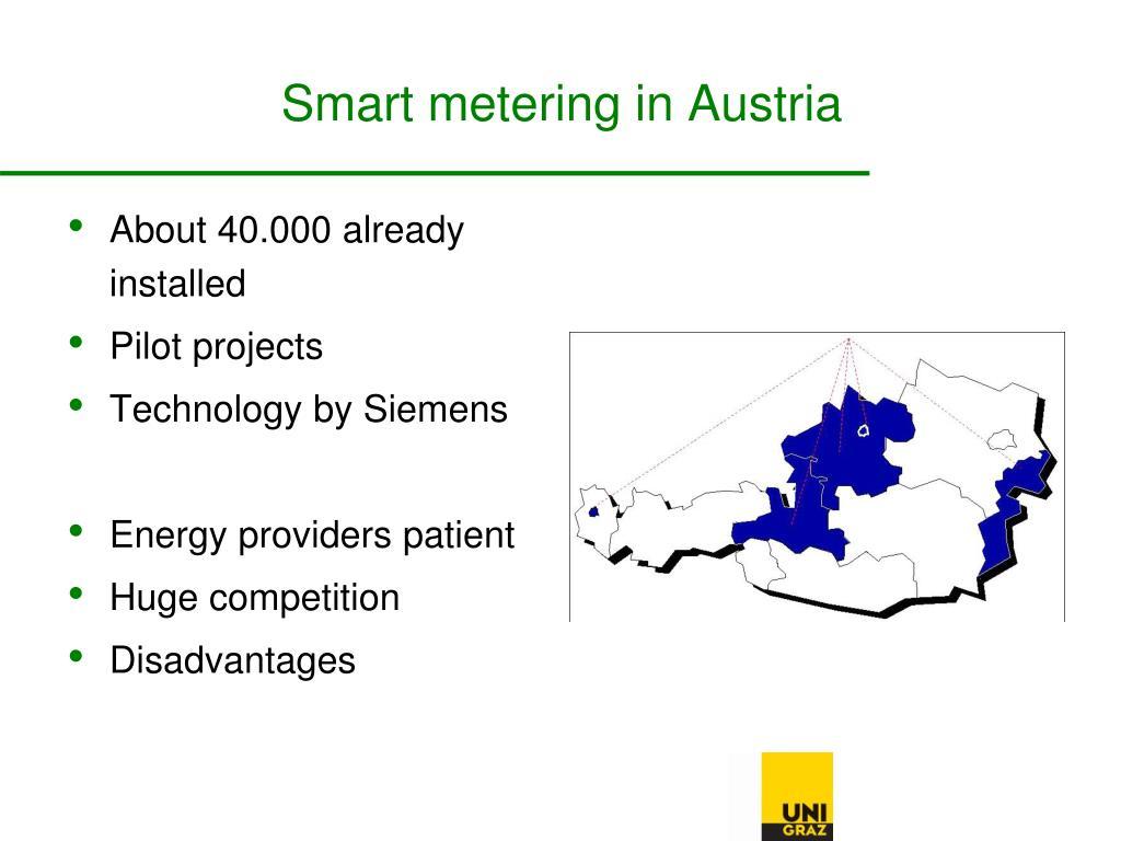 Smart metering in Austria