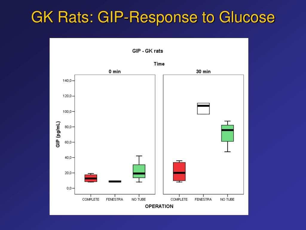 GK Rats: GIP-Response to Glucose