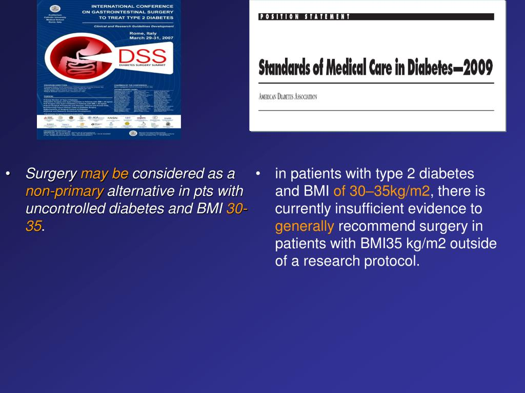 in patients with type 2 diabetes and BMI