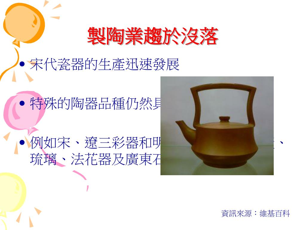 製陶業趨於沒落