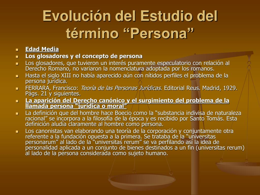 """Evolución del Estudio del término """"Persona"""""""
