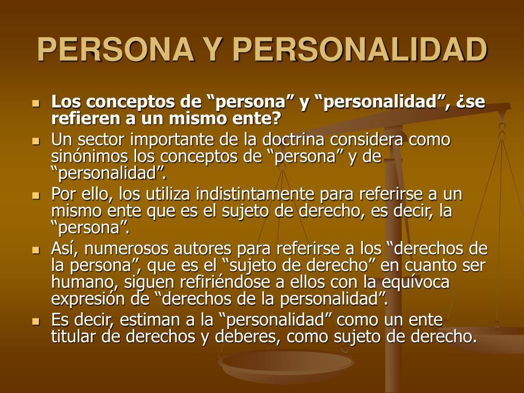 PERSONA Y PERSONALIDAD