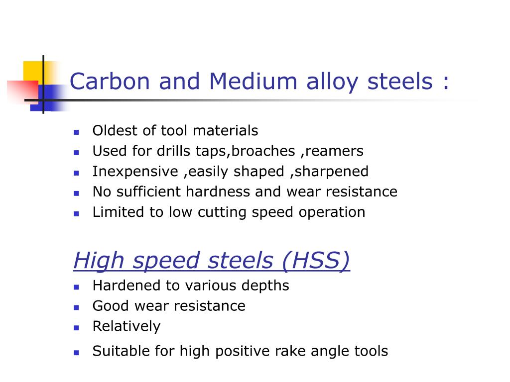 Carbon and Medium alloy steels :